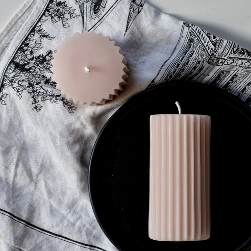 Beeswax Pillar - Blush-East City Candles-Crying Out Loud