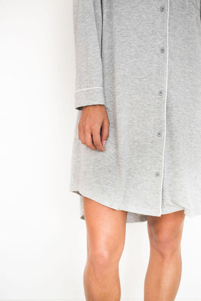 Elliot Nightie - Grey-Pajamas-Riot Theory-XS-Crying Out Loud
