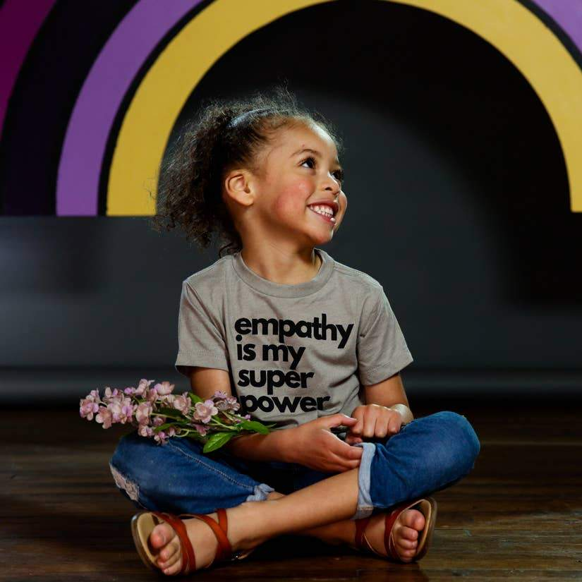 Empathy Superpower Tee (Toddler) - Sage Stone-The Sly Violet-2T-Crying Out Loud