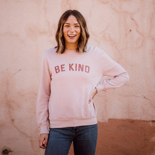 Women's Be Kind Sweatshirt - Faded Pink
