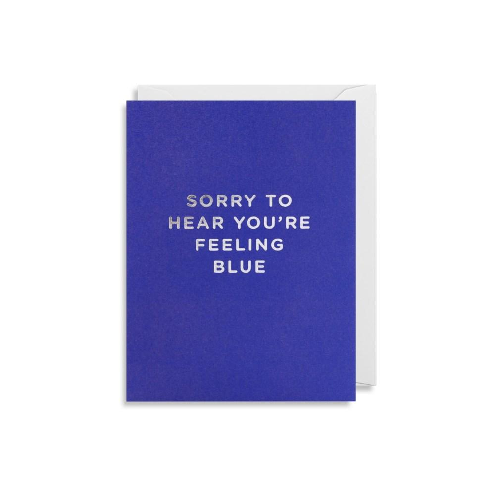 'Feeling Blue' Card-Paper E Clips-Crying Out Loud