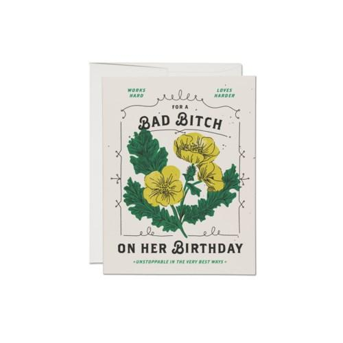 'For a Bad Bitch' Birthday Card-Red Cap Cards-Crying Out Loud