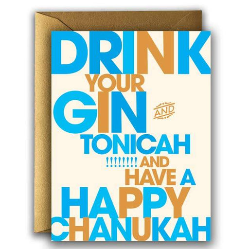 'Gin and Tonicah' Card-Offensive + Delightful-Crying Out Loud