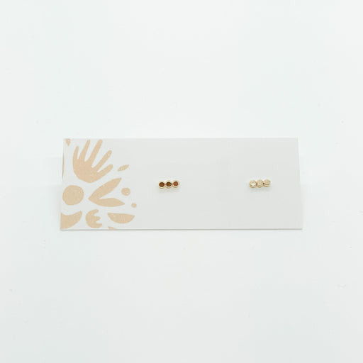 Gold Fill 3 Dot Studs-Devi Arts Collective-Crying Out Loud