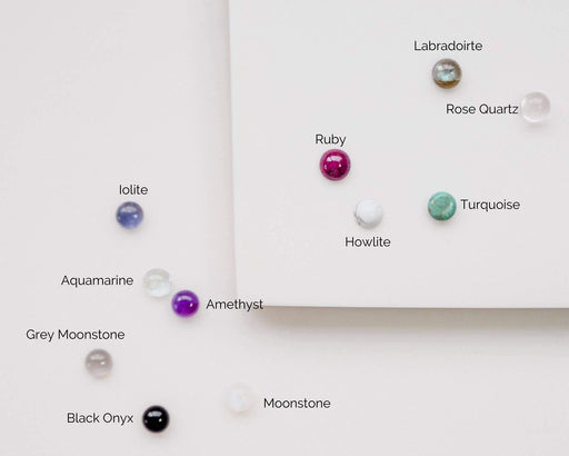 Gold Fill 3mm Gemstone Studs-Devi Arts Collective-Turquoise-Crying Out Loud