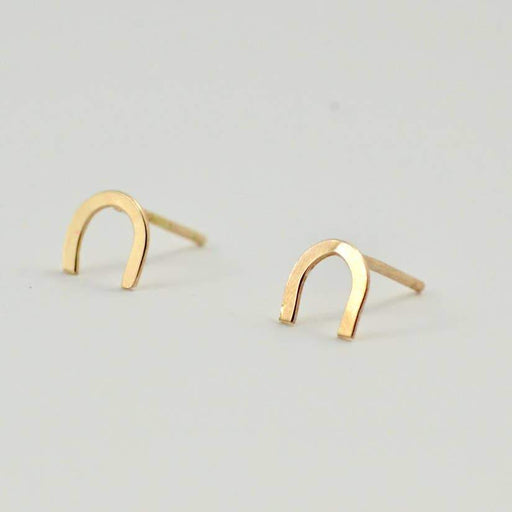 Gold Fill Horseshoe Studs-Devi Arts Collective-Crying Out Loud