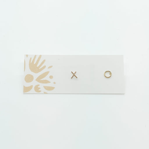 Gold Fill XO Studs-Devi Arts Collective-Crying Out Loud