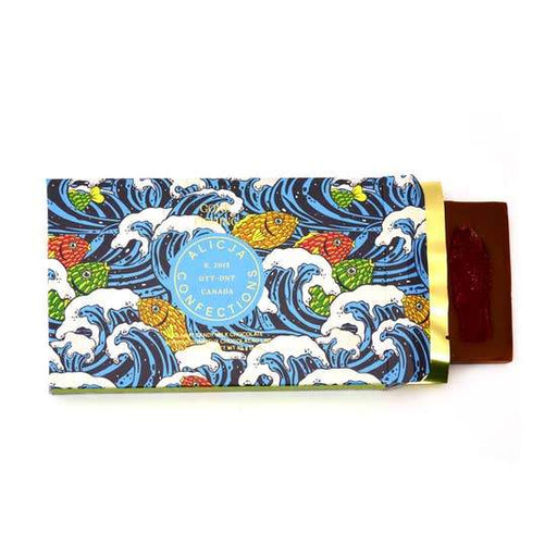 Gone Fishing Milk Chocolate Postcard Bar-Alicja Confections-Crying Out Loud