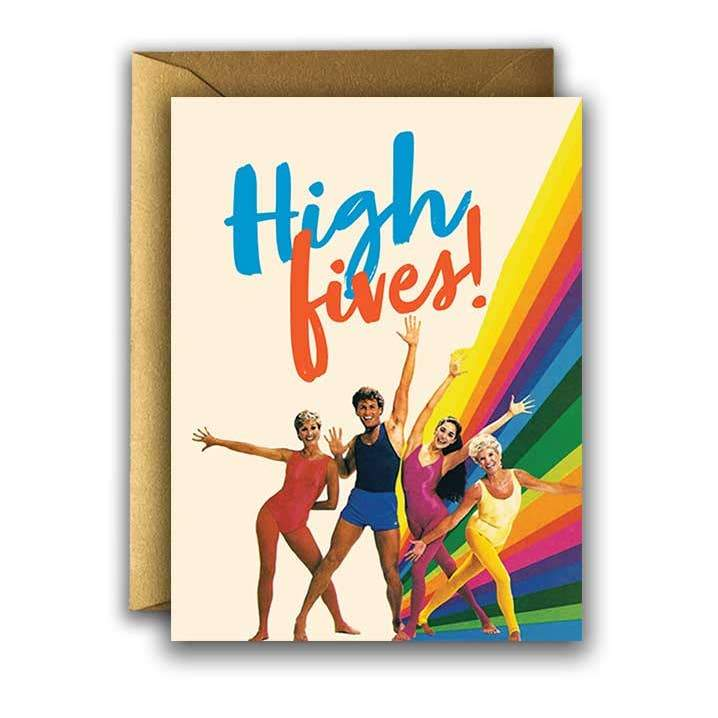 'High Fives' Card-Offensive + Delightful-Crying Out Loud