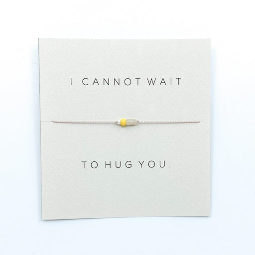 I Cannot Wait To Hug You Bracelet (2 Colours)-Mailin Jewelry-Crying Out Loud