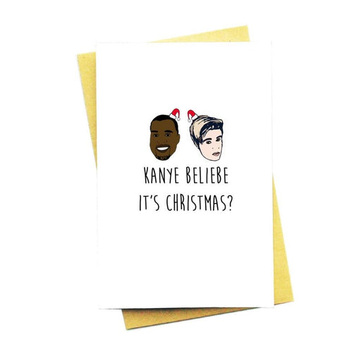 Kanye Beliebe Card-Card-Nocturnal Paper-Crying Out Loud