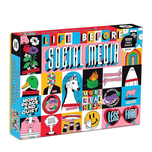 Life Before Social Media 1000 Piece Puzzle-Galison-Game-Crying Out Loud