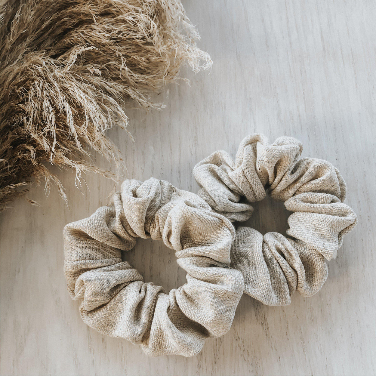 Linen Scrunchie - Stone-Life with Littles Co-Stone-Crying Out Loud