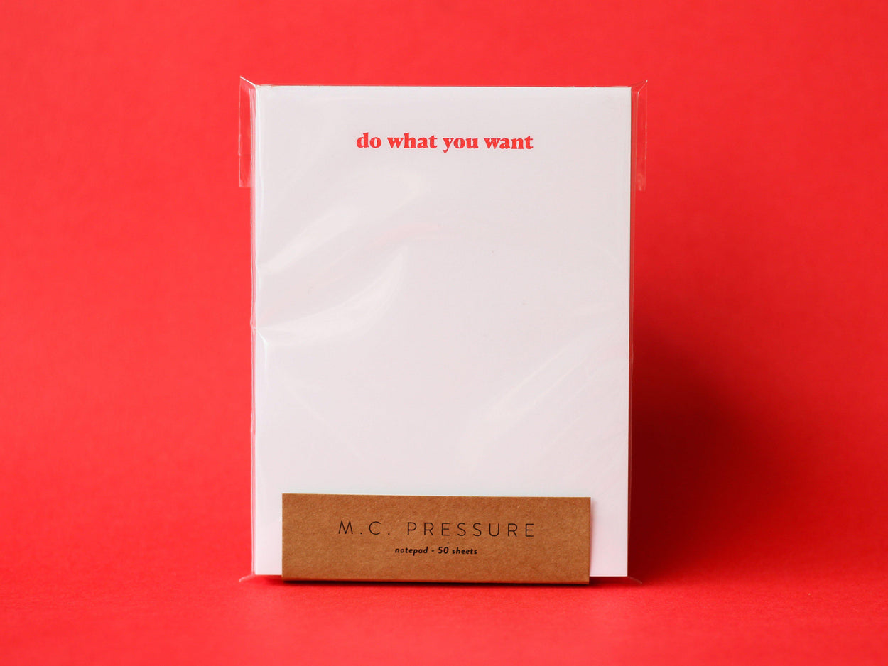 Do What You Want Notepad-M.C. Pressure-Crying Out Loud