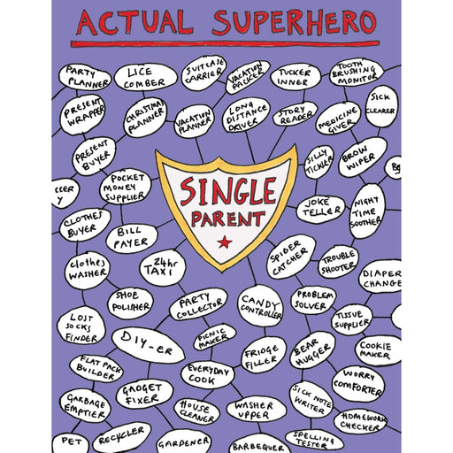 'Single Parent Superhero' Card-Halfpenny Postage-Crying Out Loud