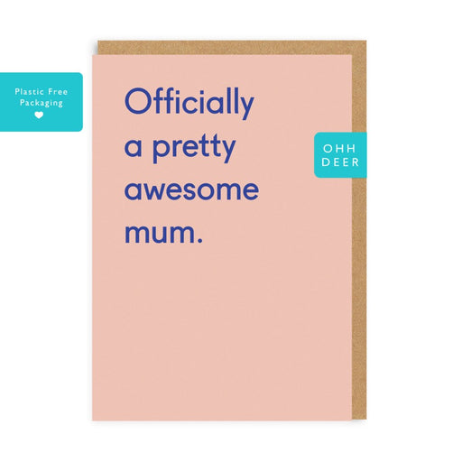 'Awesome Mum' Card-Ohh Deer-Crying Out Loud