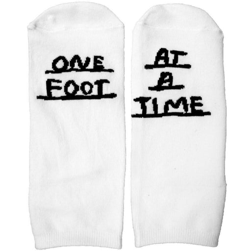 One Foot At A Time Socks-People I've Loved-white-Crying Out Loud