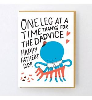 One Leg At A Time Father's Day Card-Hello Lucky-Crying Out Loud