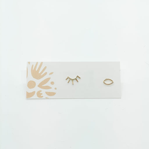 Open Eye Earring - Gold Fill-Devi Arts Collective-Crying Out Loud