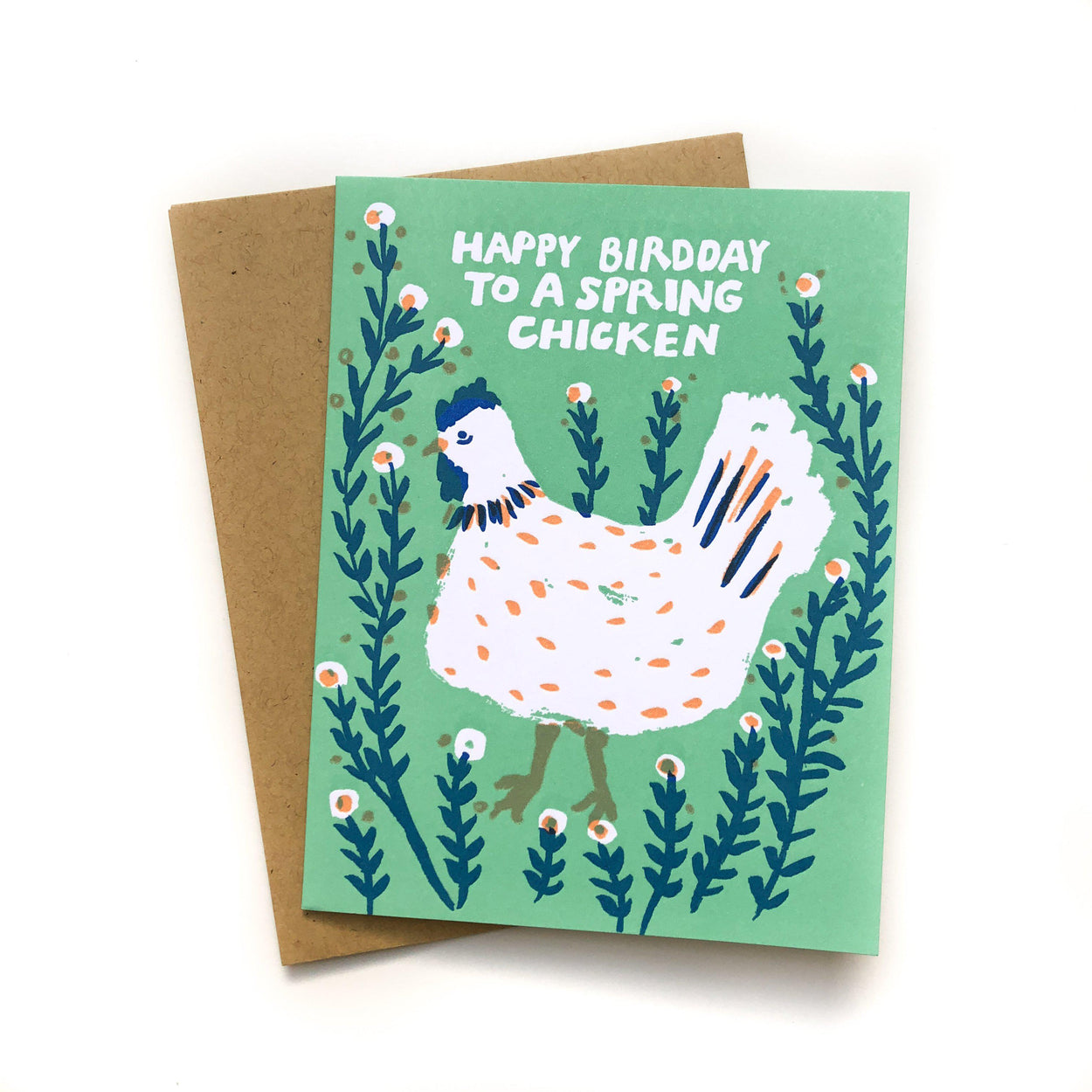 Spring Chicken Birthday Card-Egg Press (PEC)-Crying Out Loud