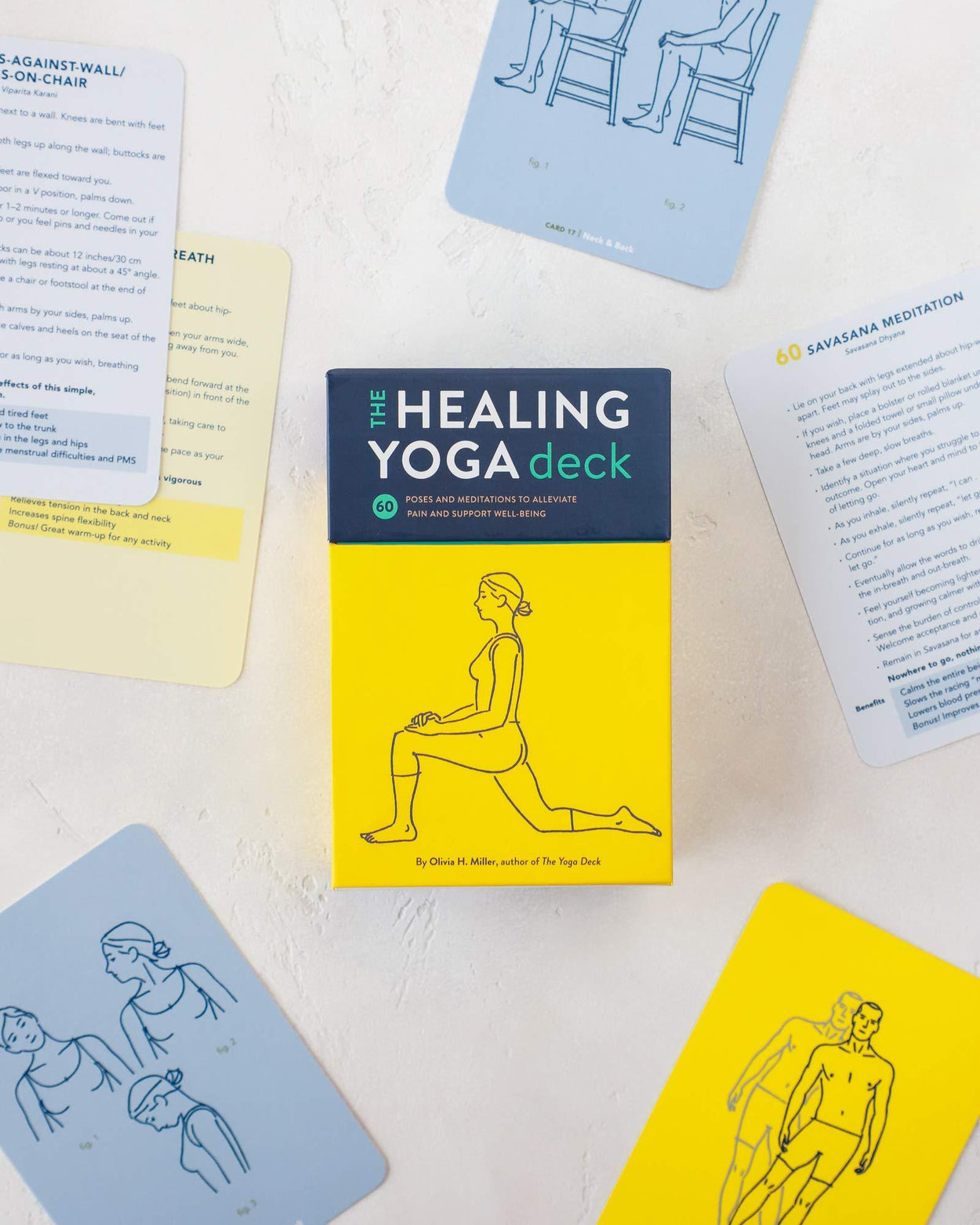The Healing Yoga Deck: 60 Poses and Meditations to Alleviate Pain and Support Well-Being-Chronicle Books-Crying Out Loud