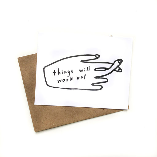 'Things Will Work Out' Card-Paper E Clips-Crying Out Loud