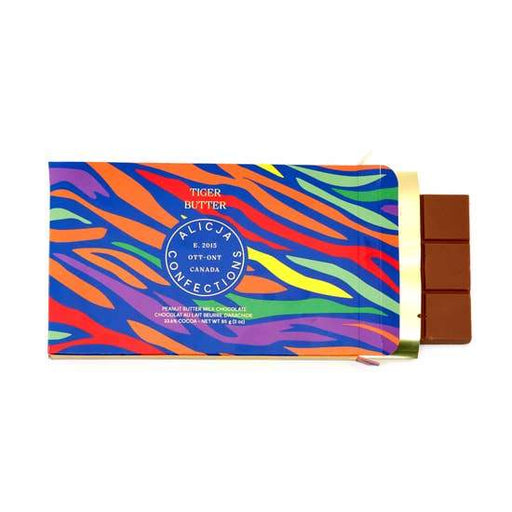Tiger Butter Milk Chocolate Postcard Bar-Alicja Confections-Crying Out Loud