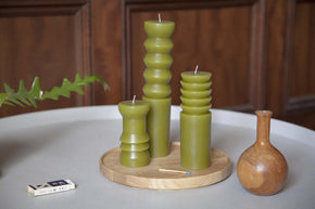 Totem Candle - Moss-Candle-Areaware-Small-Crying Out Loud