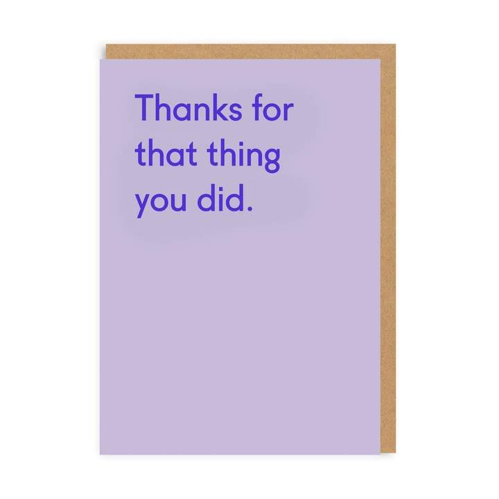 'That Thing You Did' Card
