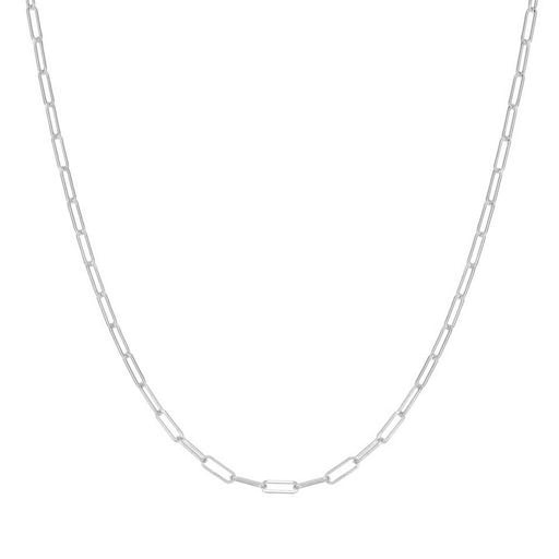 The Paperclip Chain Necklace - silver