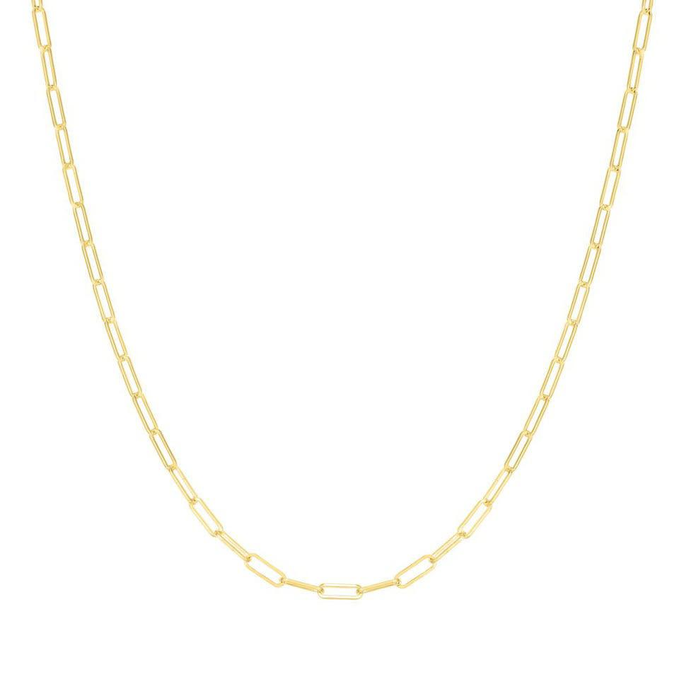 The Paperclip Chain Necklace - gold