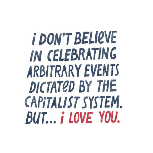 'Capitalist I Love You' Card