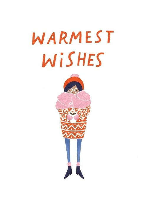 Warmest Wishes Card-Card-Halfpenny Postage-Crying Out Loud