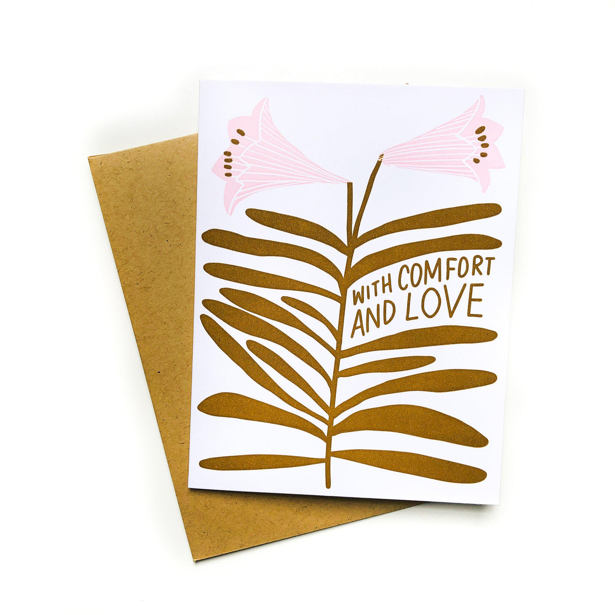 'With Comfort And Love' Card-Hello Lucky-Crying Out Loud