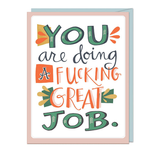 'You Are Doing A Fucking Great Job' Sticker Card-Card-Emily McDowell-Crying Out Loud