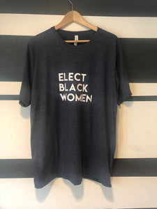 Elect Black Women Adults Heathered Navy T-Shirt