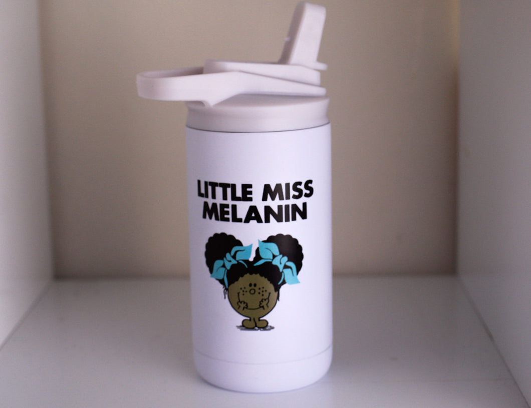 Little Miss Melanin 12 oz Kid's water bottle