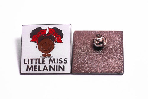 Little Miss Melanin Enamel Pin