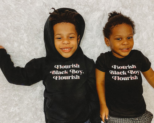 Flourish Black Boy, Flourish Kids Shirt
