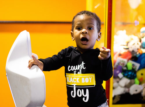 Count it All Black Boy Joy Kids Shirt