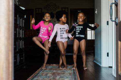 Black/Brown Girls Can Do Anything Kids Leotard