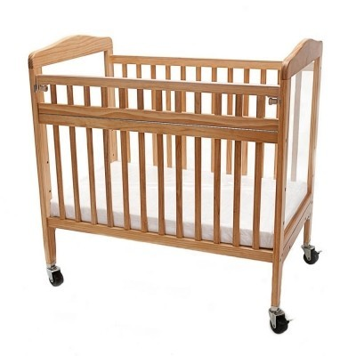 Adjustable Wooden Window Crib with Safety Gate