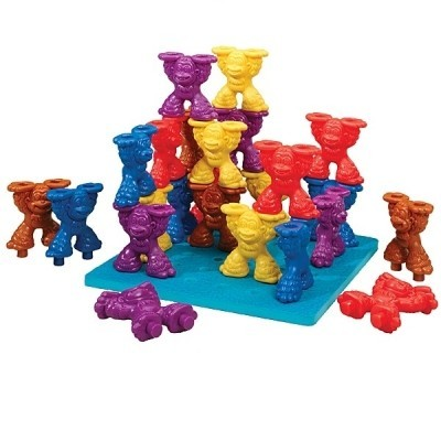 Tall Stackers Mighty Monkey Pegs & Pegboard Set