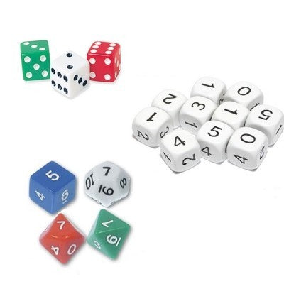 Polyhedral Numerical Dice - Set of 8