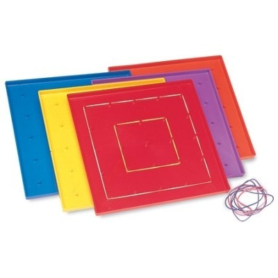 5 x 5 Pin Geoboards - Set of 10