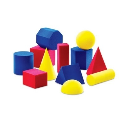 Everyday Shapes Soft Foam Geometric Shapes - Set of 12