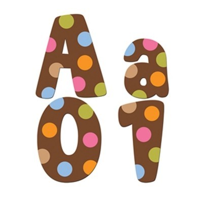 "Dots on Chocolate 4"" Designer Letters"