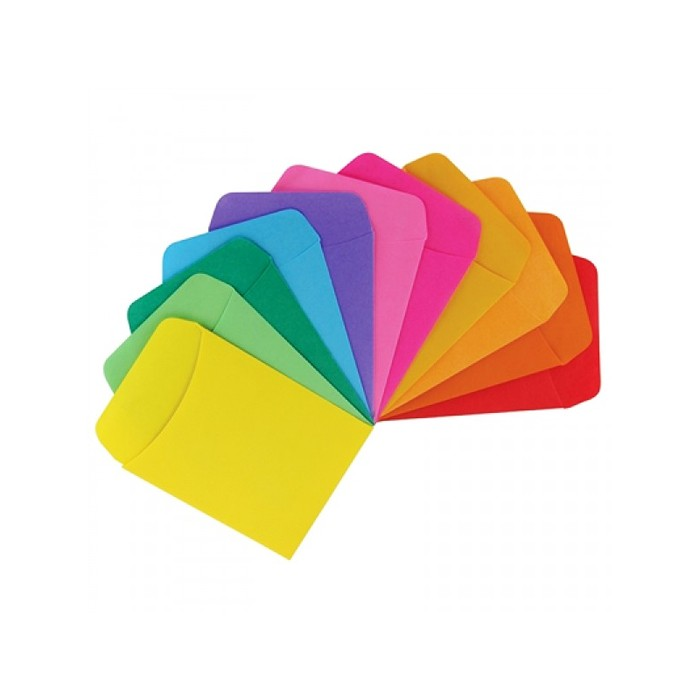 Library Pockets Assorted Colors (30 count)