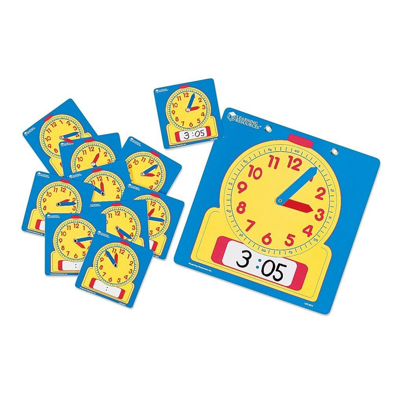 Write & Wipe Clocks - Classroom Set