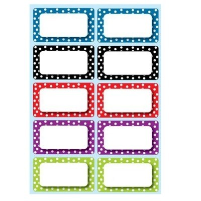 Color Dots Magnetic Name Plates